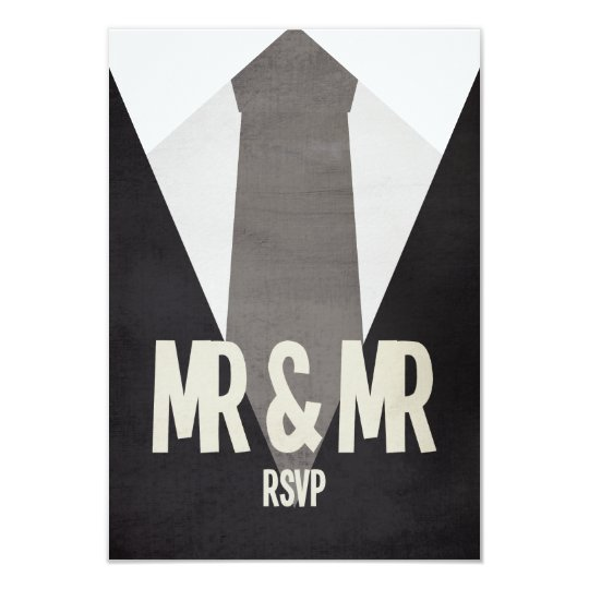 Retro Mr & Mr Suit & Tie Wedding