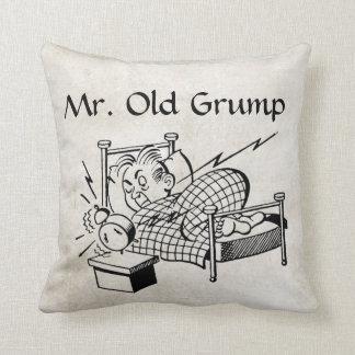 Retro Mr Old Grump Throw Pillow Throw Pillow