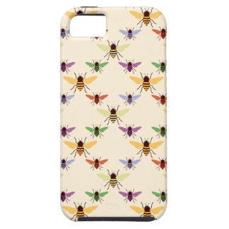 Retro multi color rainbow bees bumblebees pattern iPhone 5 covers