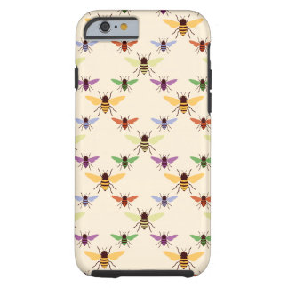 Retro multi color rainbow bees bumblebees pattern tough iPhone 6 case