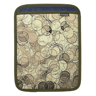 Retro Multi Colored Circles Pattern Sleeve For iPads