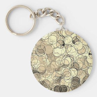 Retro Multi Colored Circles Pattern Keychain