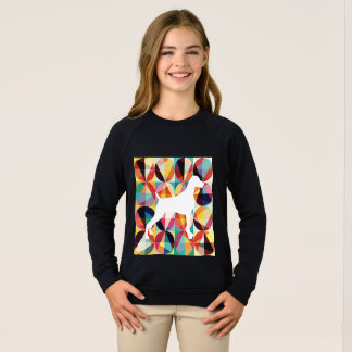 RETRO MULTI COLOUR GRAPHIC WEIMARANER SWEATSHIRT