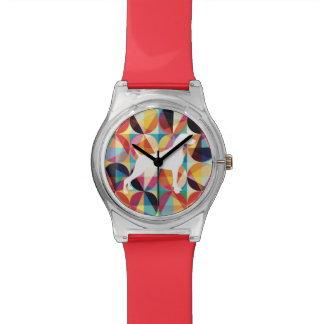 RETRO MULTI COLOUR GRAPHIC WEIMARANER WATCH