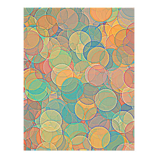 Retro MultiColored Abstract Circles Pattern 21.5 Cm X 28 Cm Flyer