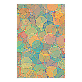 Retro MultiColored Abstract Circles Pattern Personalized Flyer