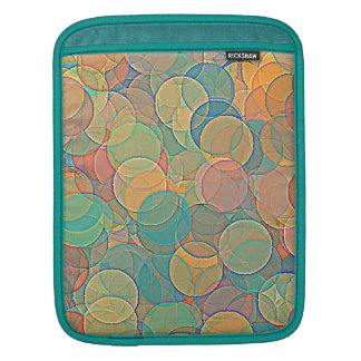 Retro MultiColored Abstract Circles Pattern iPad Sleeve