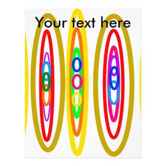 Retro multicolored circles full color flyer