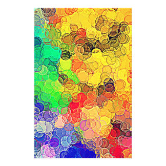 Retro Multicolored Circles Pattern Custom Flyer