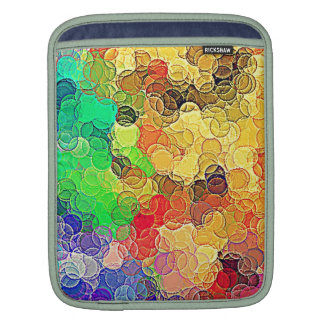 Retro Multicolored Circles Pattern Sleeve For iPads