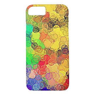 Retro Multicolored Circles Pattern iPhone 7 Case