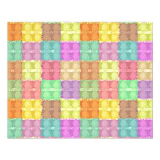 Retro Multicolored Square Pattern 11.5 Cm X 14 Cm Flyer