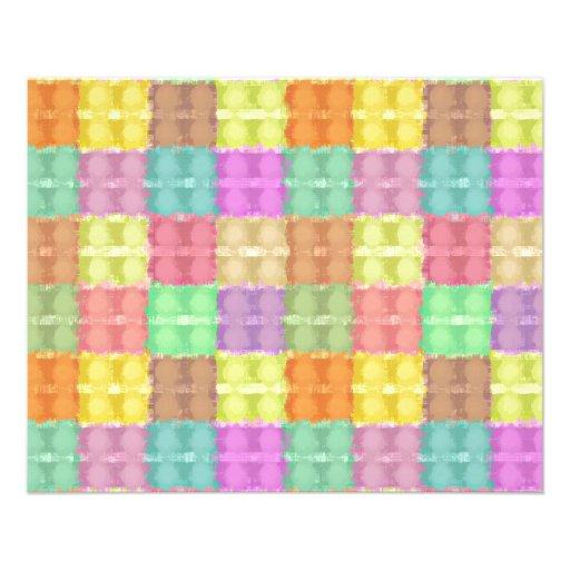 Retro Multicolored Square Pattern Custom Flyer