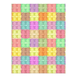 Retro Multicolored Square Pattern Flyers