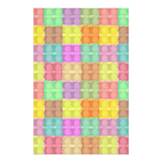 Retro Multicolored Square Pattern Full Color Flyer