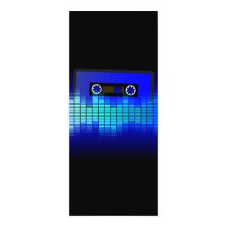 Retro Music 10 Cm X 24 Cm Invitation Card