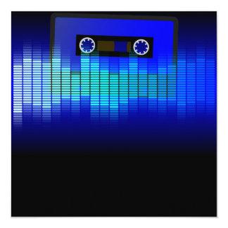 Retro Music 13 Cm X 13 Cm Square Invitation Card