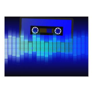 Retro Music 13 Cm X 18 Cm Invitation Card