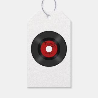 Retro Music 45 Record Gift Tags