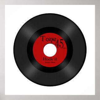 Retro Music 45 Record Posters