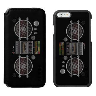 Retro Music BoomBox Ghetto Blaster Incipio Watson™ iPhone 6 Wallet Case