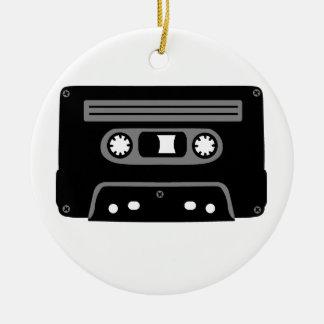 Retro Music Cassette Round Ceramic Decoration