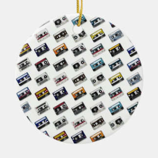Retro Music Cassette Tapes Christmas Tree Ornaments