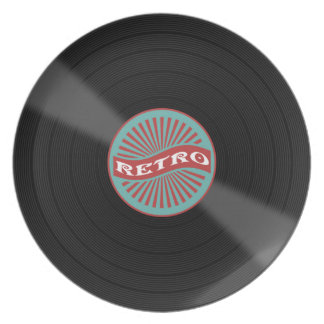 Retro music disc plate