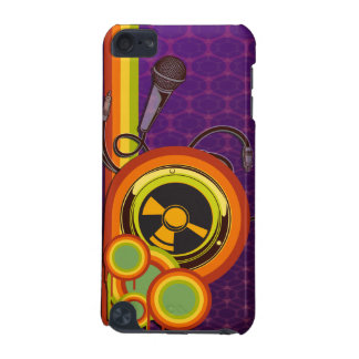 retro music funky vector art iPod touch (5th generation) case