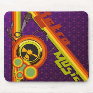 retro music funky vector art mouse pad