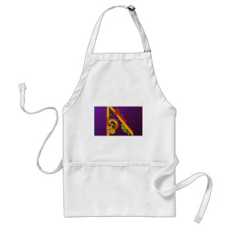 retro music funky vector art standard apron