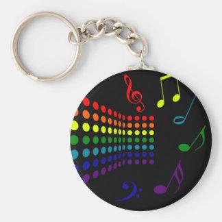 Retro Music II Key Ring
