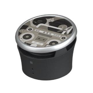 Retro Music Instrument Collage Bluetooth Speaker