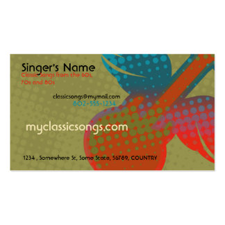 Retro Music Pack Of Standard Business Cards