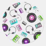 Retro Music Pattern Sticker