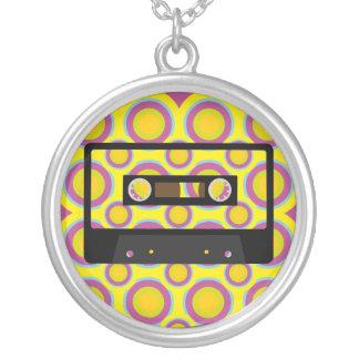 Retro Music Round Pendant Necklace