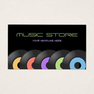 Retro Music Shop Vinyls business card