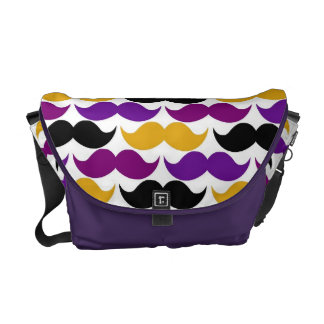 Retro Mustache Handlebar Colorful Pattern Commuter Bag