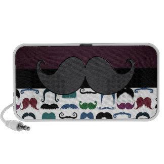 Retro Mustache Moustache Travelling Speaker