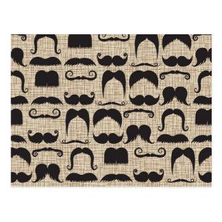Retro Mustache Moustache Stache Pattern Post Cards