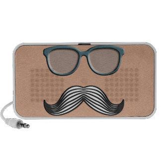 Retro Mustache Moustache Stache Travelling Speaker