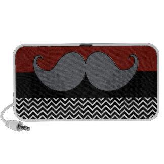 Retro Mustache Moustache Stache iPod Speakers
