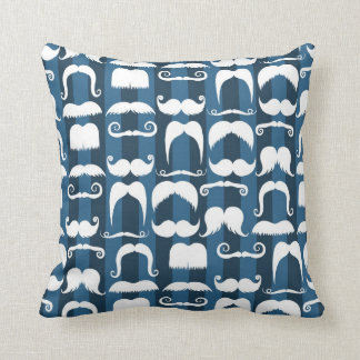 Retro Mustache Pattern Cushion