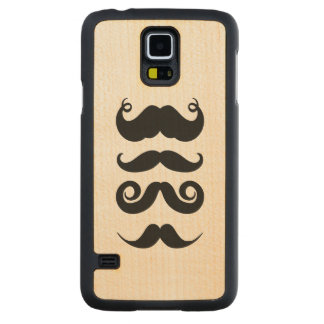 Retro Mustaches Carved® Maple Galaxy S5 Case