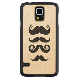 Retro Mustaches Maple Galaxy S5 Case