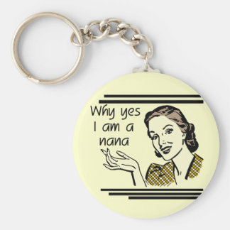 Retro Nana T-shirts and Gifts Basic Round Button Key Ring