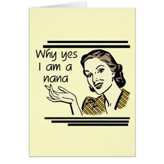Retro Nana T-shirts and Gifts Greeting Card
