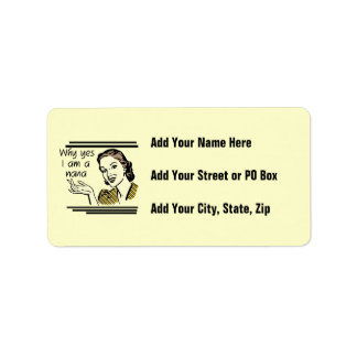 Retro Nana T-shirts and Gifts Address Label