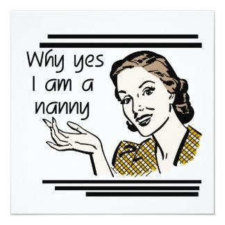 Retro Nanny T-shirts and Gifts 13 Cm X 13 Cm Square Invitation Card