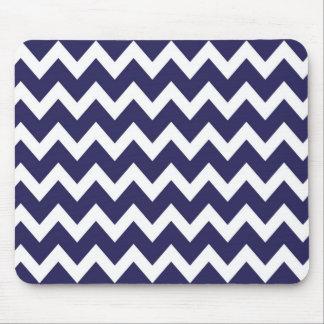 Retro NAVY BLUE Zig Zag Pattern Mouse Pad